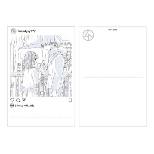 401×ふせでぃ POST CARD(RAIN)